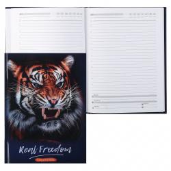 Ежедневник недатированный, А5, 80л, склейка Фото тигра Проф-Пресс 80-1327