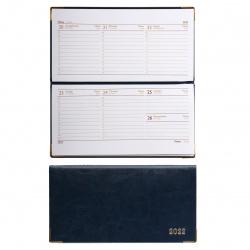Еженедельник (планинг) датированный 2022г, 90*170мм, 64л, синий Сариф Escalada 57051