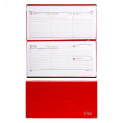 Еженедельник (планинг) Сариф датированный 2022г, 90*170мм, 64л, красный Escalada 57052