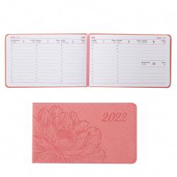 Еженедельник датированный 2022г, А6, 87*150мм, 64л, розовый Виннер Escalada 57663