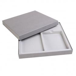 Подарочная упаковка 35*35см под Ежедневник А5+планинг (15*30см) GIFT-BOX-21-GREY сер
