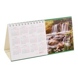 Календарь 2022 домик, перекидной, 100*190мм, картон мелованный, на евроспирали Лесной водопад Полином 22с14-1/1201197