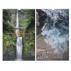 Календарь 2022 настенный перекидной, 280*440мм, на спирали с ригелем Красивые пейзажи Полином 3145-3