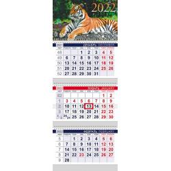 Календарь кварт настен 2021г 30*65 3блоч 3греб с бегун Экстра Планета цветов 3Кв3гр3ц_23558
