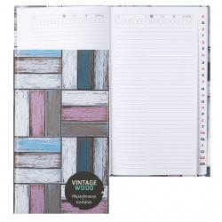 Книга алфавитная А5, твердый картон 7Бц, 80л, офсет, печать блока в три краски, книжный переплет, выборочное, матовая Цветное дерево КТС-Про C0272-60