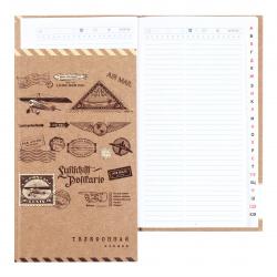 Книга алфавитная А5, твердый картон 7Бц, 80л, офсет, печать блока в три краски, книжный переплет, выборочное, матовая Марки КТС-Про C0272-61
