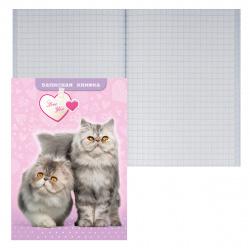 Книжка записная А7 (75*105) 48л клетка склейка тв обл 7Бц Проф-Пресс Мои пушистые котята глянц лам 48-4510