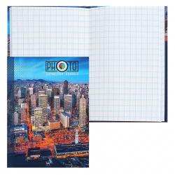 Книжка записная А7 (75*105) 48л клетка склейка тв обл 7Бц Проф-Пресс Вид на город-1 глянц лам 48-2103