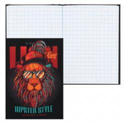 Книжка записная А7 (75*105) 48л клетка склейка тв обл 7Бц Проф-Пресс Львиный стиль глянц лам 48-2105