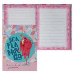 Книжка записная для девочек А6 (110*148) 80л линия склейка тв обл 7Бц Принцесса-фламинго д/девочки тонир мат лам выб лак блест К80-5808