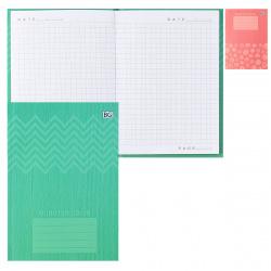 Блокнот-бизнес А6, 64л, клетка, книжный переплет, интегральная, ассорти 2 вида Just color БиДжи ББ6и64_лм 7148