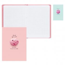 Блокнот-бизнес А6, 64л, клетка, книжный переплет, твердый картон 7Бц, ассорти 2 вида Сладкие моменты БиДжи ББ6т64_лм_вл 9007
