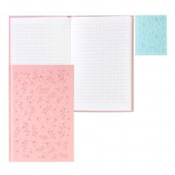 Блокнот-бизнес А6, 80л, клетка, книжный переплет, твердый картон 7Бц, ассорти 2 вида Pearl dreams БиДжи ББ6т80_лм_тгф 8276