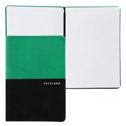 Книжка записная А5, 80л, линия, книжный переплет, твердый картон 7Бц, кожзам, поролон Апплика С5906-03