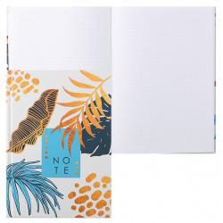 Книжка записная А5 (145*210) 160л тв обл 7Бц Listoff Стильные листья мат лам выб лак КЗЛ51603355