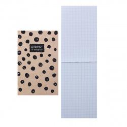 Блокнот А7 (65*100) 48л клетка склейка обл мягк карт Hatber В точку глянц лам 48Б7В1к ассорти 5 видов