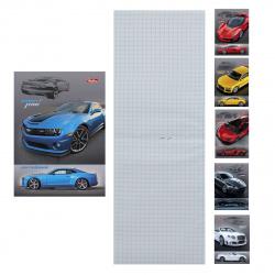 Блокнот А6 (105*145) 32л клетка скоба обл мягк карт Hatber Автомобили глянц лам 32Б6В1 ассорти 8 видов
