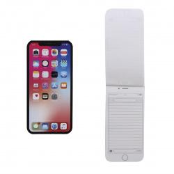 Блокнот А6 (67*137) 48л линия склейка обл мягк карт Hatber Телефон Черный глянц лам жест подлож 48Б6В5к_13996
