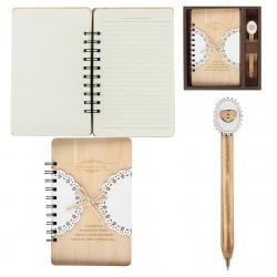 Набор подарочный 2пр Книжка зап А6 (134*192) +ручка Винтаж 183953 КОКОС ассорти 2 вида