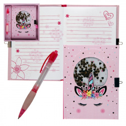 Набор подарочный 2пр Книжка зап А6 (135*180) +ручка Единорог 206945 КОКОС
