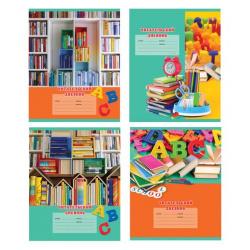 Тетрадь для записей 24л Читательский дневник BG Мир книг ДЧ5ск24 6990 ассорти 4 вида