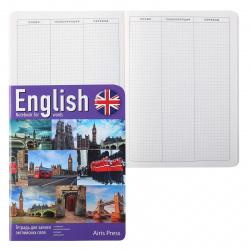 Тетрадь-словарик для записи английских слов, А5, 32л, клетка Виды Лондона Айрис-пресс 25005