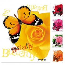 Тетрадь 40л клетка Hatber Бабочки с цветами 40Т5D1 (вт блок) ассорти 5 видов