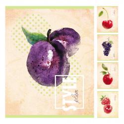 Тетрадь 48л клетка Hatber Fruit Style 48Т5D1 (вт блок) ассорти 5 видов