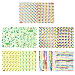 Тетрадь 96л клетка Hatber Patter Collection Перевертыш глянц лам 96Тд5В1 ассорти 5 видов