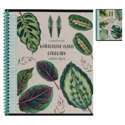 Тетрадь 48л клетка спир Проф-Пресс Тропические листья 48-5731 ассорти 2 вида