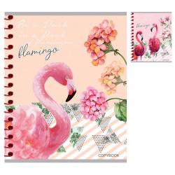 Тетрадь 48л клетка спир Проф-Пресс Фламинго и цветы 48-5733 ассорти 2 вида