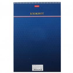 Блокнот А4 (196*297) 80л клетка спир обл мягк карт жест подлож Hatber Цветочная акварель глянц лам 80Б4В1сп_19097