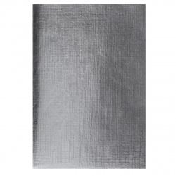 Тетрадь А4 48л клетка б/в Hatber Metallic Серебро тисн 48Т4бвВ3