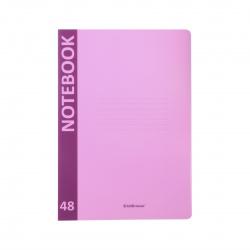 Тетрадь А4 48л клетка обл пласт Erich Krause Neon 48224 розовый