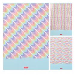 Тетрадь А4 80л клетка обл мел карт Hatber Pattern Collection глянц лам 80Т4В1 ассорти 3 вида