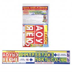 Плакат Лента букв и звуков Мир открыток 340*1750 мелов карт 0-24-004А