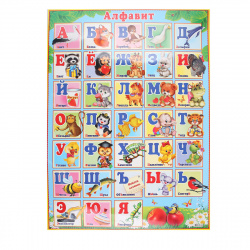 Плакат Алфавит русский Мир открыток 499*691 мелов карт 0-02-177А