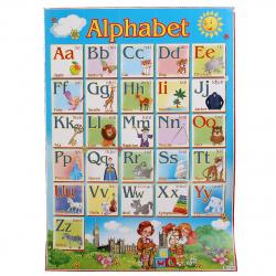 Плакат Алфавит английский Мир открыток 499*691 мелов карт 0-02-120
