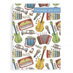Тетрадь для нот А4 8л вертик Феникс Яркие инструменты 51551