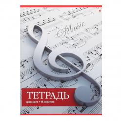 Тетрадь для нот А4 8л вертик Альт 5-8-011