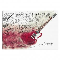 Тетрадь для нот А4, 12л, горизонтальная, на скобе Гитара Феникс 57225