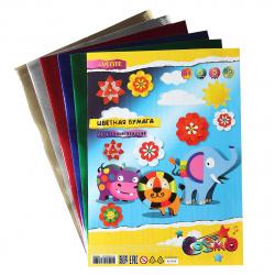 Набор цветной бумаги А4 5л 5цв металлизированная в пакете deVENTE 8040504