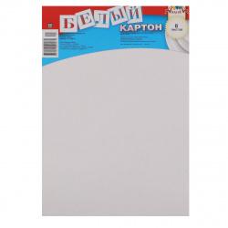Набор белого картона А4 8л немелованный в пакете Апплика С2768 ассорти
