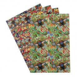 Набор цветного картона А4, 4л, 4 цвета, мелованный, без скрепления Апплика 4284