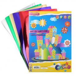 Набор цветного картона А4, 5л, 5 цветов, без скрепления deVENTE 8040513