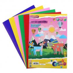 Набор цветного картона А4, 5л, 5 цветов, мелованный, гофрированный, без скрепления deVENTE 8040516