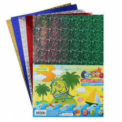 Набор цветного картона А4, 5л, 5 цветов, фольгированный, без скрепления deVENTE 8040514