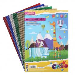 Набор цветного картона А4, 5л, 5 цветов, фольгированный, гофрированный, без скрепления deVENTE 8040519
