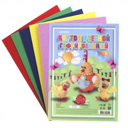 Набор цветного картона А4, 5л, 5 цветов, немелованный, гофрированный, без скрепления deVENTE 8040515