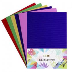 Набор цветного картона А4, 5л, 5 цветов, мелованный, гофрированный, без скрепления КОКОС 183723